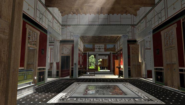 Oszałamiająca animacja bogatego domu w Pompejach