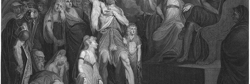 Andrew Birrell, Karatakus przed trybunałem Klaudiusza w Rzymie