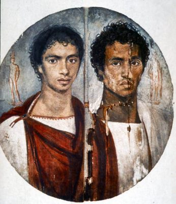 Fayum portrait of two brothers