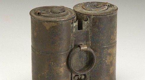 Double Roman Inkwell