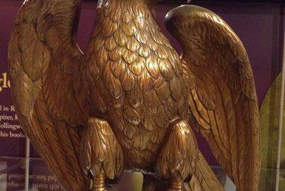 An eagle made of three thousand Roman coins