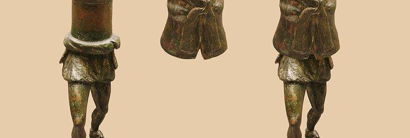 Gallo-Roman bronze statues depicting Priap