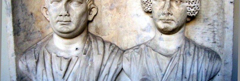 Rzeźba ukazująca rzymską parę