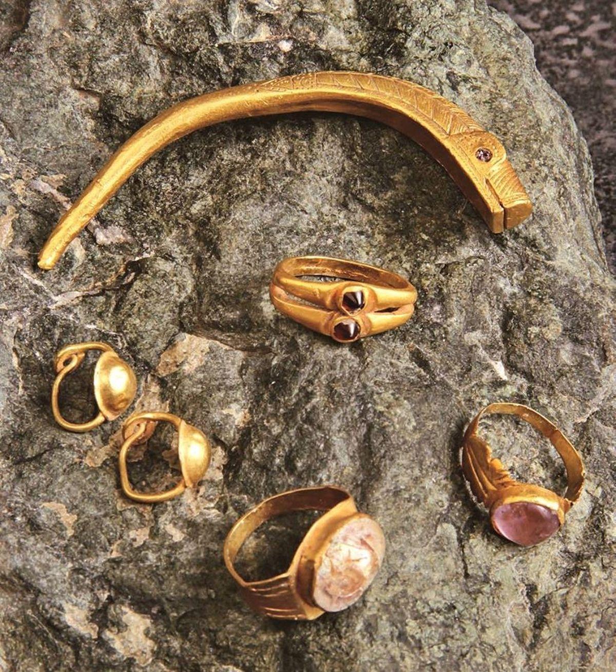 Rzymska złota biżuteria znaleziona w Serbii