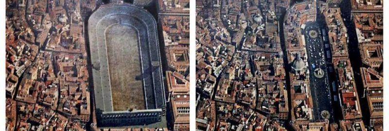 Domitian Stadium - then and now
