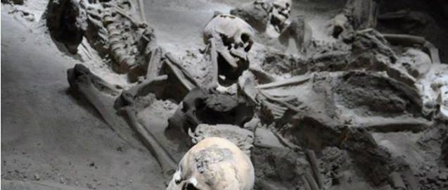 Remains of the inhabitants of Herculaneum