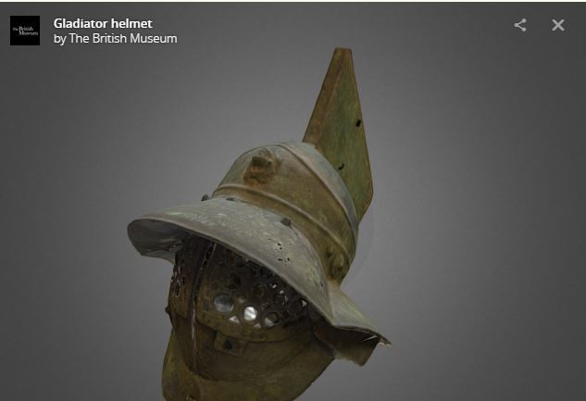 Model 3D hełmu gladiatora