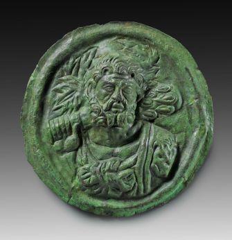 Rzymski dekoracyjny talerz z wizerunkiem Heraklesa