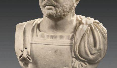 Roman marble bust of a bearded man