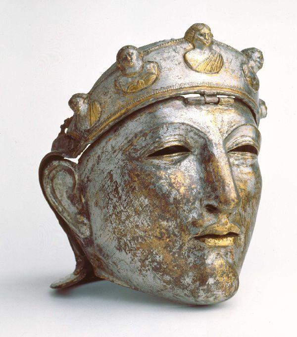 Mask of elite Roman riding
