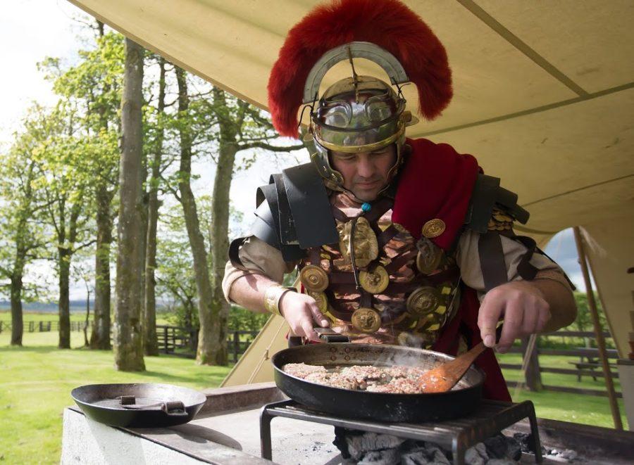 Przygotowanie burgera rzymskiego