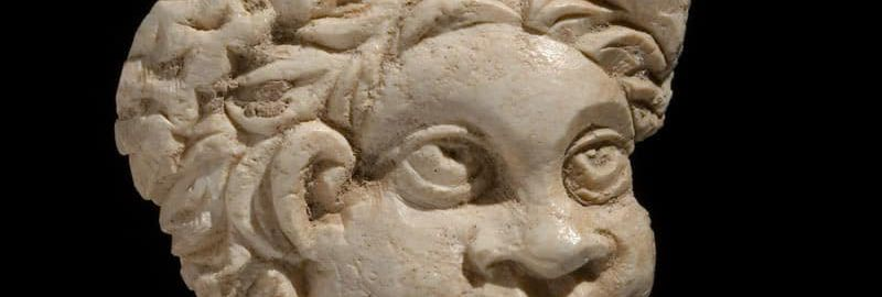 Roman tile showing the head of an African
