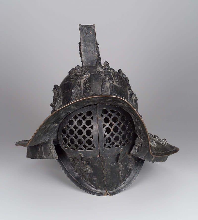 Reconstruction of murmillo's gladiator helmet