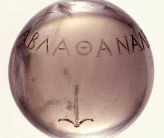 Rzymska kryształowa kula z greckim palindromem