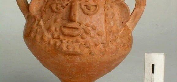 Rzymskie naczynie z wizerunkiem twarzy