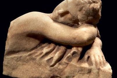 Fragment of a Roman statuette depicting the Hermaphrodite