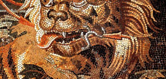 Roman mosaic showing a tiger