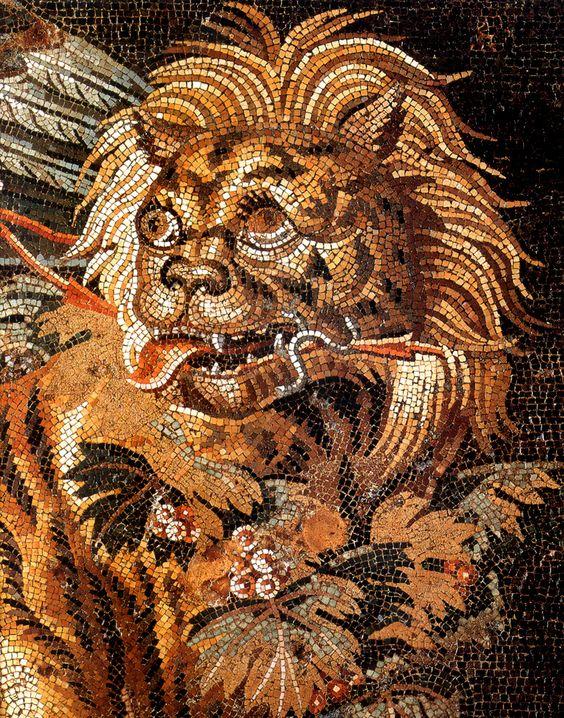 Rzymska mozaika ukazująca tygrysa