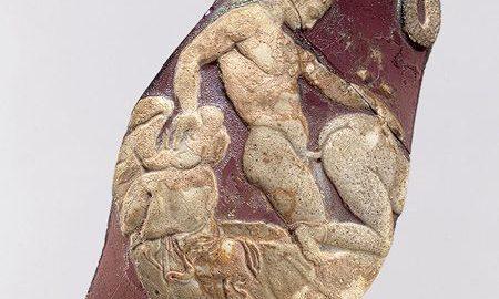 Fragment rzymskiego pucharu ze sceną aktu miłosnego