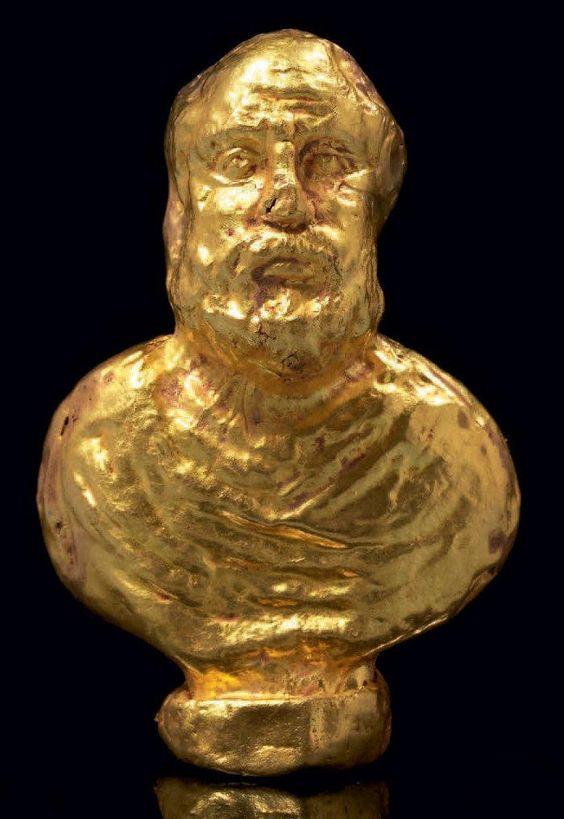 Rzadka figurka ukazująca rzymskiego filozofa Senekę Młodszego