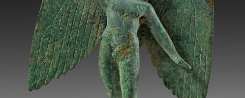 Roman statuette depicting a flying Cupid