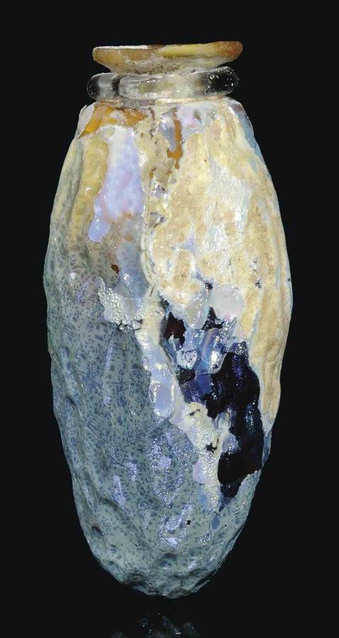Rzymski flakonik wykonany z bursztynowego szkła