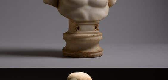 Beautiful Roman bust of a young man
