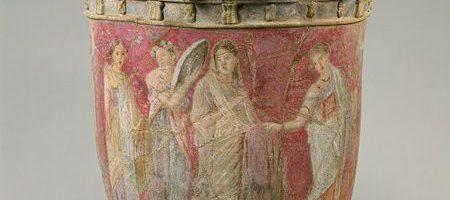 Roman vase made of terracotta