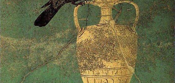 Kos na rzymskim fresku