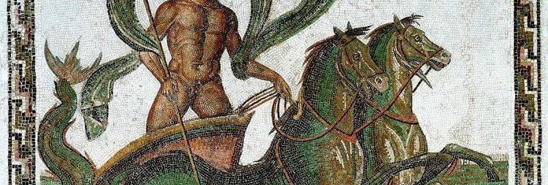 Neptun na rzymskiej mozaice