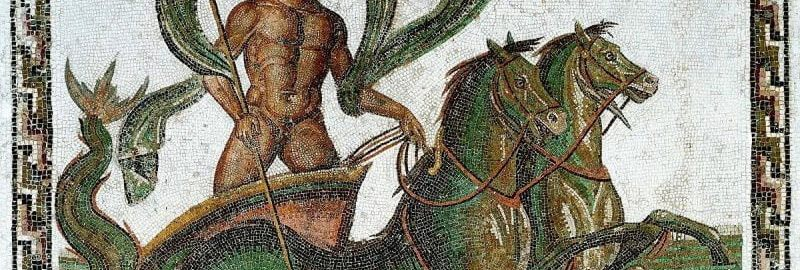 Neptune on the Roman mosaic
