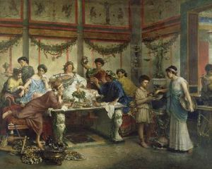 Roman feast during Saturnalia