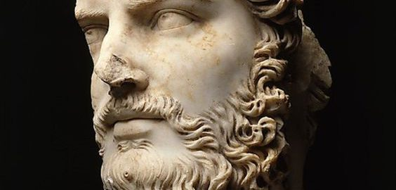 Fragment of the head of Emperor Lucius Verus