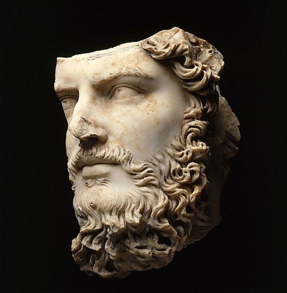 Fragment głowy cesarza Lucjusza Werusa