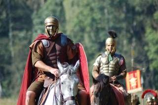 Rzymskie hełmy z maskami