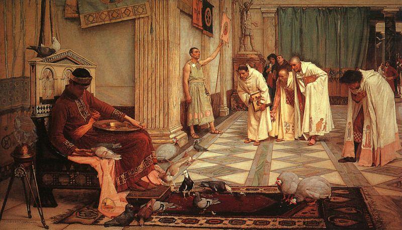 Ulubieńcy cesarza Honoriusza, John William Waterhouse