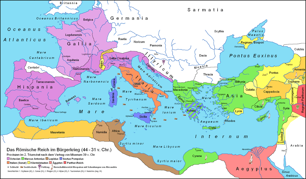 Roman Republic after the Brundizium Agreement (39 BCE)