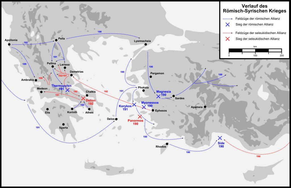 Przebieg wojny Rzymu z imperium Seleucydów