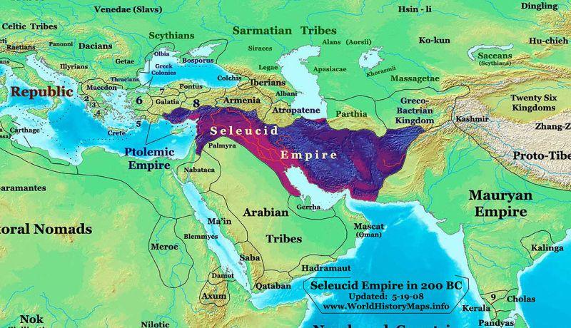 Imperium seleukidzkie około 200 roku p.n.e.