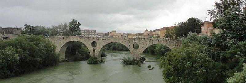 Roman bridge over the Volturno River