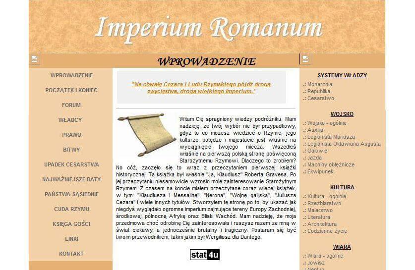 Website IMPERIUM ROMANUM in 2005