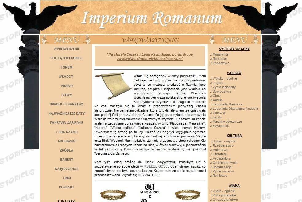 Website IMPERIUM ROMANUM in 2006