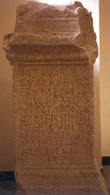 Inskrypcja o frumenatrii z Legio VII Gemina