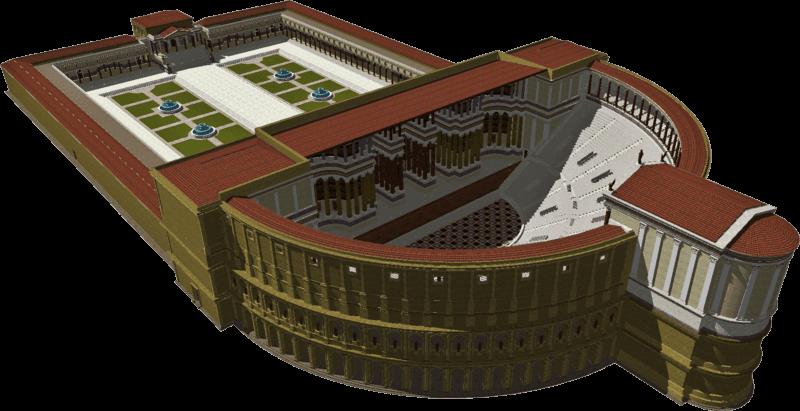 Rekonstrukcja 3d Teatru Pompejusza