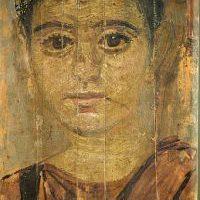 Portret zmumifikowanej małej dziewczynki