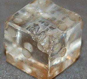 Roman dice made of rock crystal