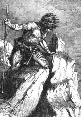 Kaledończyk lub Pikt na ilustracji z XIX-wiecznej książki