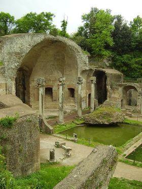 Zachowane ruiny willi Hadriana