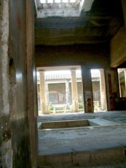View on peristyle in the Pompeian house