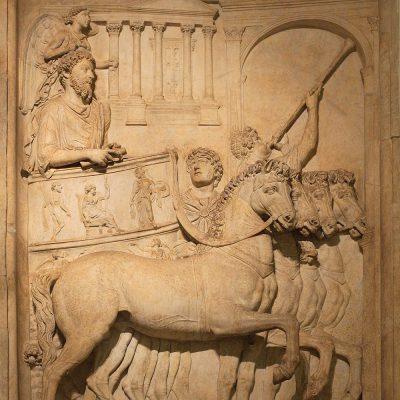 Depiction of Emperor Marcus Aurelius during the triumph